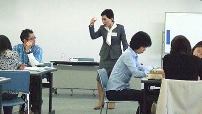 講師は太津子さん(起業プログラム作成)