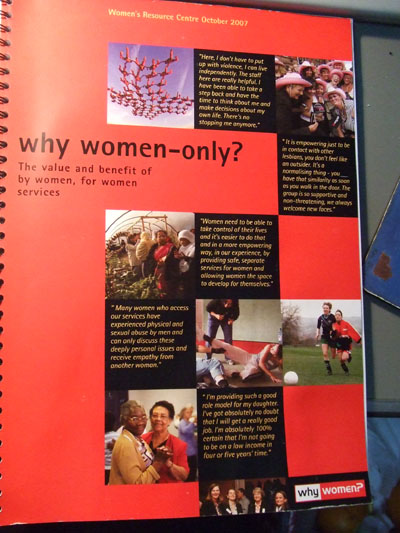 Why Women-only ? 調査の報告書