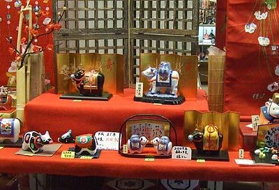 博多の人形店にて 2009年は丑年