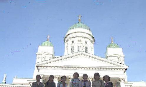 ヘルシンキ大聖堂にて