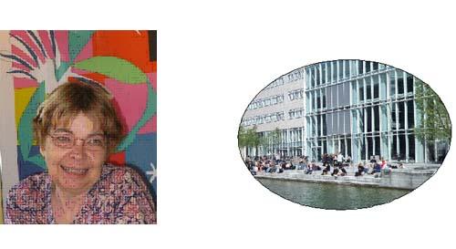 右:デンマーク: レフシングさん コペンハーゲン大学学部長  Prof. Kirsten Lefsingさん University of Copenhagen Faculty of Humanities Njalsgate 80 2300 Copenhagen S 右:コペンハーゲン大学