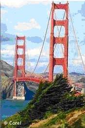 ゴールデンゲートブリッジ(全長2737メートル)