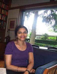 ノルウェイ大使館でアニータ・プラタップ(Anita Pratap)さん