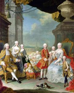 マリアテレジアの家族:シェーンブルン宮殿にて