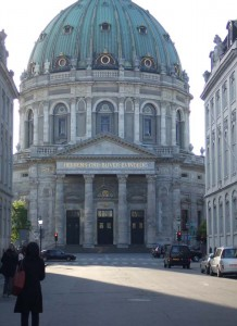 王宮からカセッドラルを見る(コペンハーゲン)